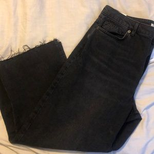 Forever 21 high waisted wide crop jeans